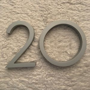 Never used #20 Home Number Replacement